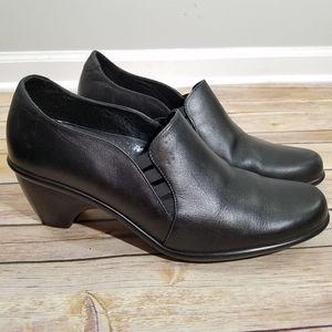 Dansko black slip on black heels 41
